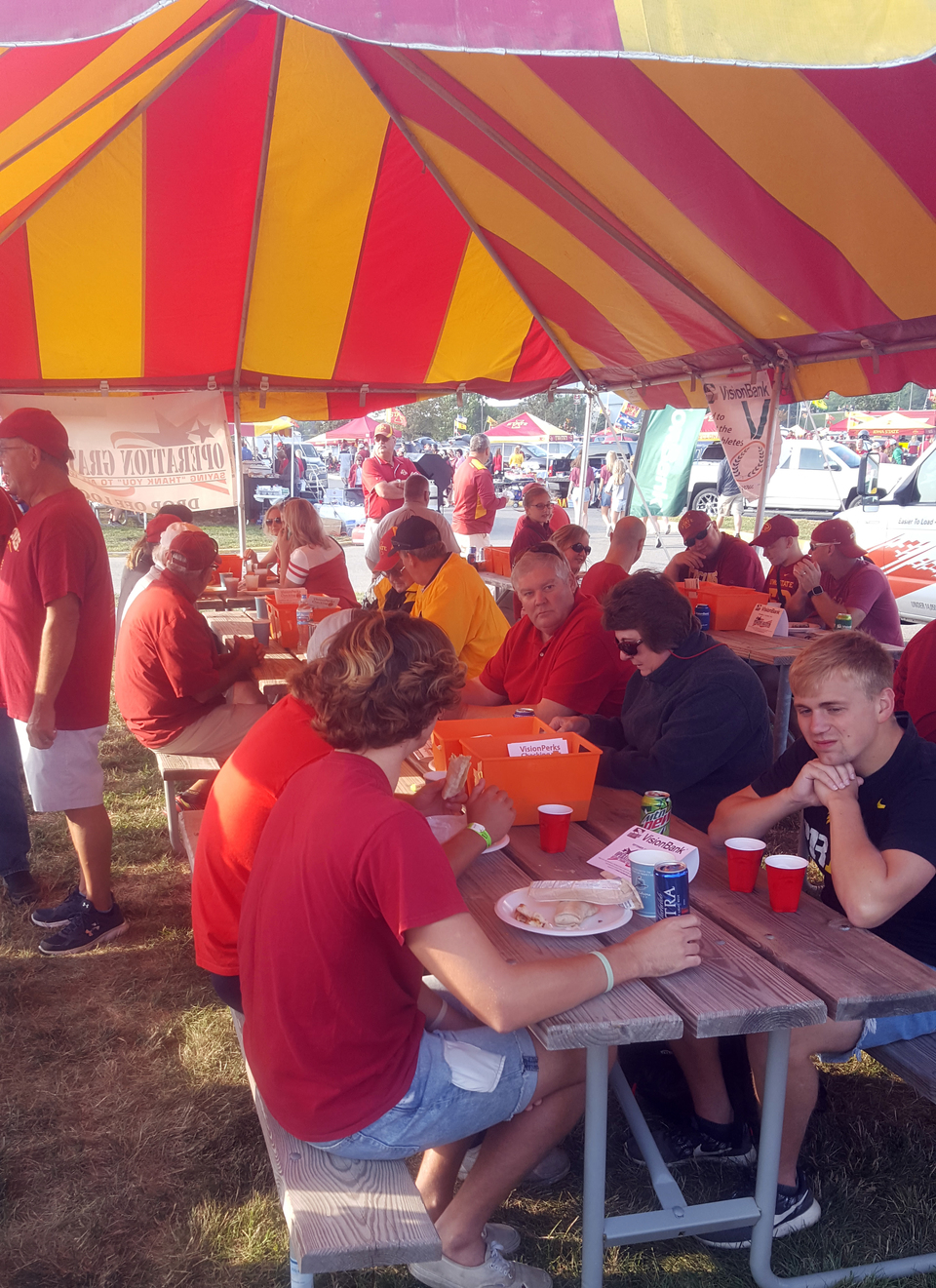 A huge crowd attended our 3rd Annual Tailgate at Jack Trice Stadium. This year we gathered early before the ISU/Iowa game, but everyone was a winner for the spirited breakfast event!