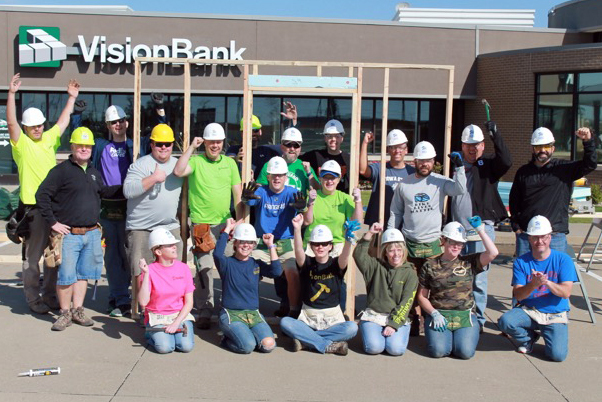 In 2017 VisionBank celebrated our 5th Annual Habitat for Humanity Panel Build with another amazing group of VB staff members and volunteers!