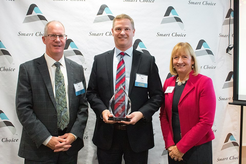 VisionBank was recognized as Contributor of the Year at the Ames Chamber and Affiliates Awards Dinner