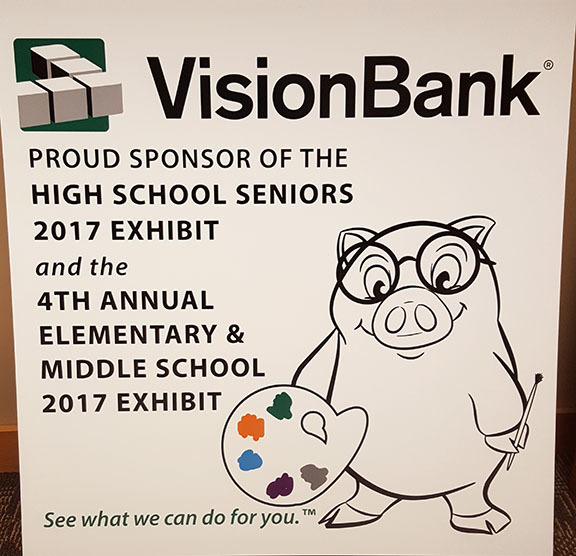 Franklin the VB Piggy Bank helps us to sponsor great events like the Octagon High School Seniors and the Elementary & Middle School Art Exhibits.