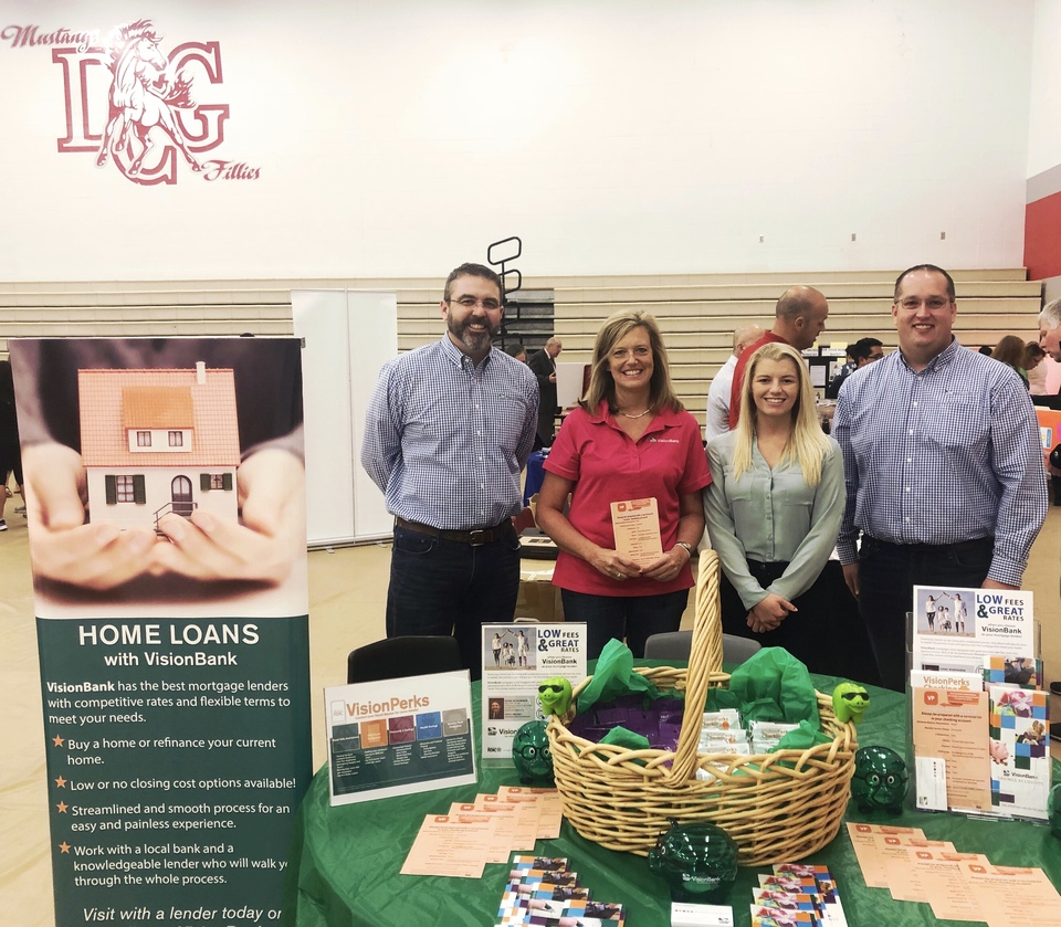 Grimes staff spent the day at DCG High School talking with teachers about the importance of financial education.