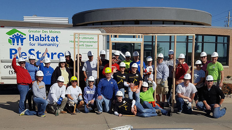 2016 marks the 4th Annual Habitat for Humanity Panel Build at our Grimes location.