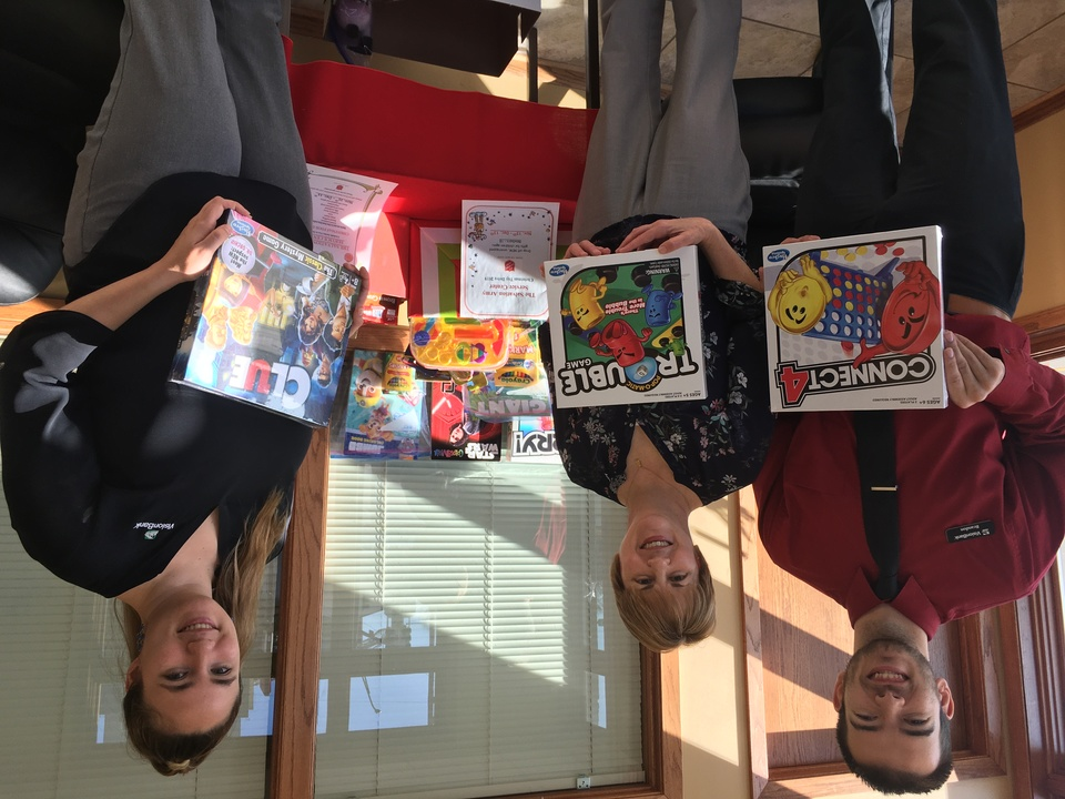 The Ames Main Street branch collected toys for the Salvation Army Holiday Toy Drive.
