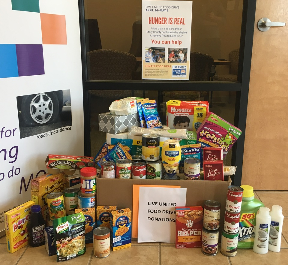 VisionBank is proud to support the efforts of our area United Way chapters, including food drives throughout the year.