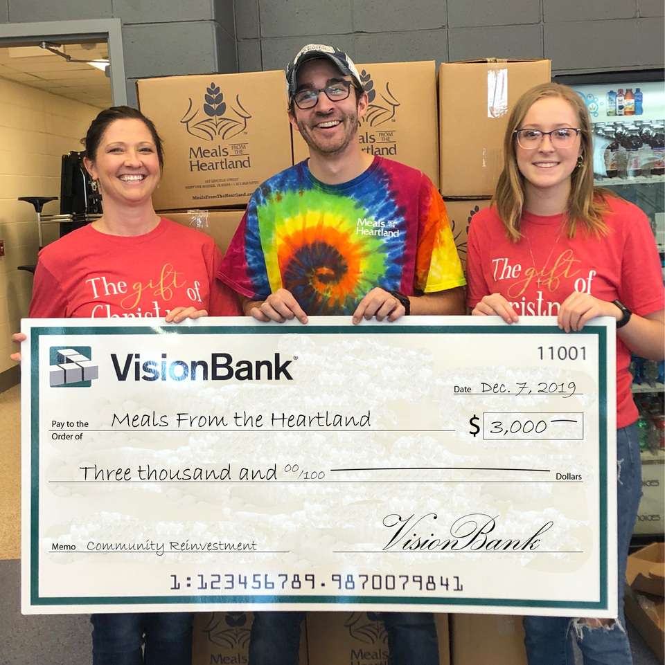 VisionBank sponsored a meal packing day in Ogden where staff and community members packaged more than 3,000 nutritious meals!