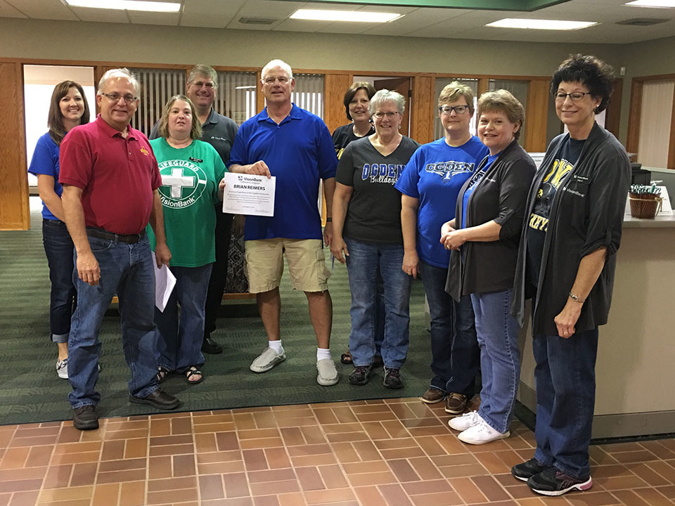Brian Reimers is recognized as a Community Superhero in Ogden because of his generous donations of time and resources to organizations like the Food Pantry, Ogden Community School District, and the Ogden City Council