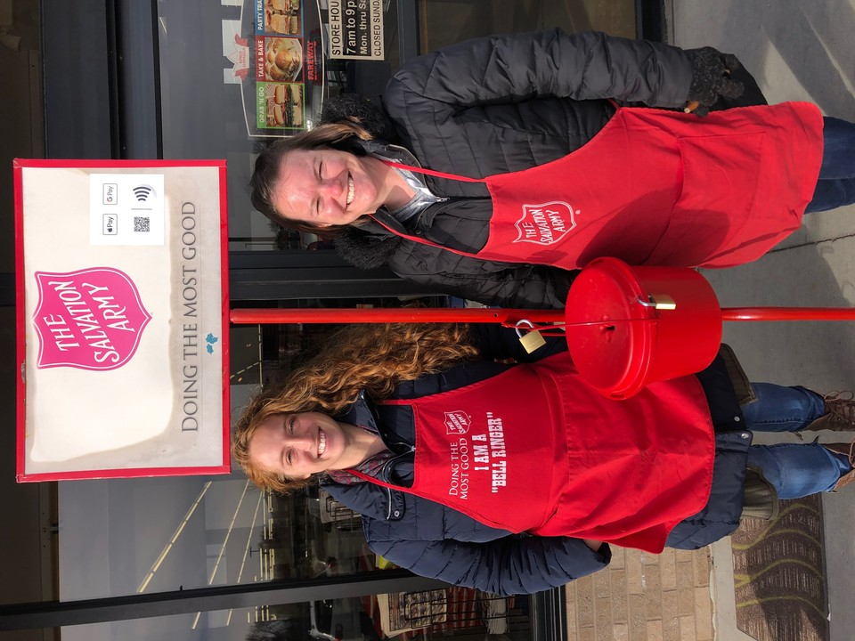 Huxley staff spent the day ringing the Salvation Army bell and spreading holiday cheer